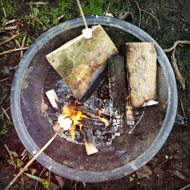 Toasting marshmallows...yum!