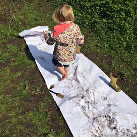 Mud painting....brushes optional